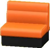 ボックスソファのオレンジの画像