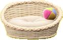 ペットのベッドのホワイト(外側)の画像