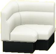 ボックスソファのコーナーのホワイトの画像