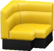ボックスソファのコーナーのイエローの画像