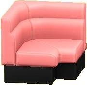 ボックスソファのコーナーのピンクの画像