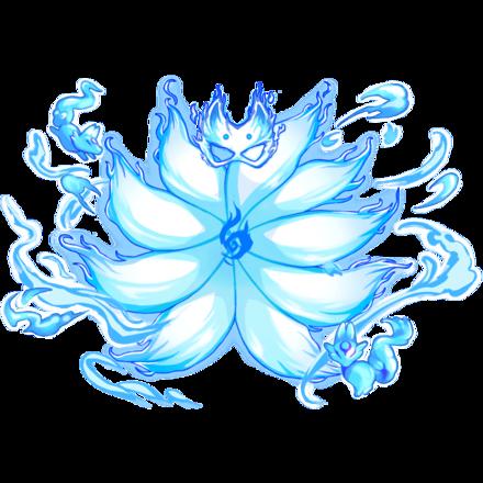 【神】狐面狐火纏し九尾のオーラ・水の画像