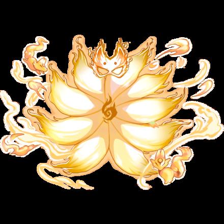 【神】狐面狐火纏し九尾のオーラ・光の画像