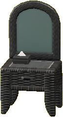 ラタンのドレッサーのブラックの画像