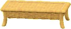 ラタンのローテーブルのライトブラウンの画像