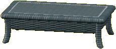 ラタンのローテーブルのグレーの画像