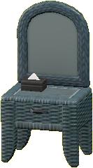 ラタンのドレッサーのグレーの画像