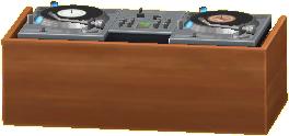 DJブースのブラウンの画像