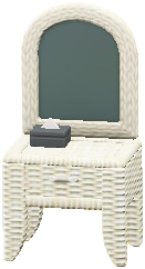 ラタンのドレッサーのホワイトの画像