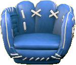ACNH - The Blue version of Throwback Mitt Chair