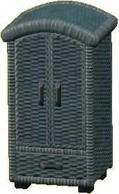 ラタンのクロゼットのグレーの画像