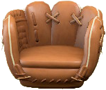 ACNH - The Brown version of Throwback Mitt Chair