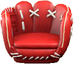 ACNH - The Red version of Throwback Mitt Chair