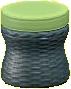 ラタンのスツールのグレーの画像