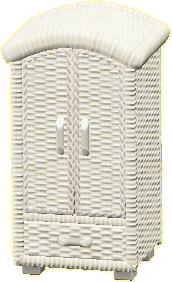 ラタンのクロゼットのホワイトの画像