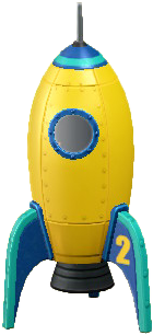 ACNH - The Yellow version of Throwback Rocket