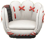 ACNH - The White version of Throwback Mitt Chair