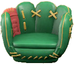 ACNH - The Green version of Throwback Mitt Chair
