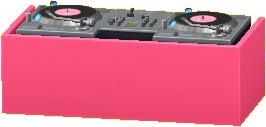 DJブースのピンクの画像