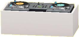 DJブースのホワイトの画像