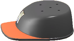 ACNH - The Black & Orange version of Throwback Hat Table