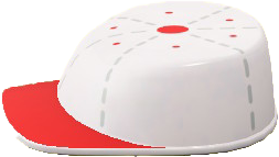 ACNH - The White & Red version of Throwback Hat Table