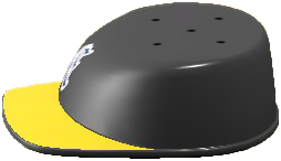 ACNH - The Black & Yellow version of Throwback Hat Table