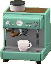 エスプレッソマシンのグリーンの画像