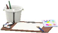 ACNH - The White version of Painting Set