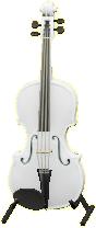 ヴァイオリンのホワイトの画像