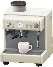 エスプレッソマシンのホワイトの画像