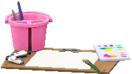 ACNH - The Pink version of Painting Set