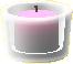 ガラスのキャンドルホルダーのピンクの画像