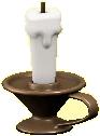 キャンドルのブロンズの画像