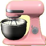 スタンドミキサーのピンクの画像