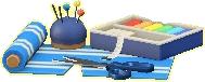 ソーイングセットのブルーの画像