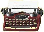 タイプライターのブラウンの画像