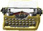 タイプライターのゴールドの画像
