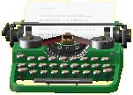 タイプライターのグリーンの画像
