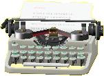 タイプライターのシルバーの画像