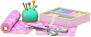 ソーイングセットのピンクの画像