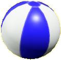 ビーチボールのブルーの画像