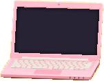 ノートパソコンのピンクの画像
