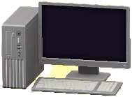 デスクトップPCのシルバーの画像
