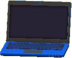 ノートパソコンのブルーの画像