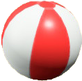 ビーチボールのレッドの画像