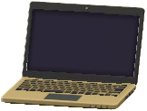 ノートパソコンのゴールドの画像