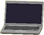 ノートパソコンのシルバーの画像