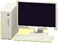 デスクトップPCのホワイトの画像
