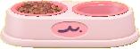 ペットのごはんのピンクの画像